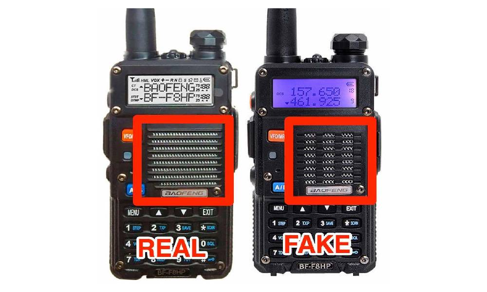 BF-F8HP: The counterfeit problem on eBay, Alibaba, Wish, and other  webstores. – BaoFeng Radios